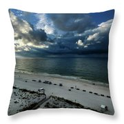 Storms Over The Gulf Of Mexico Throw Pillow
