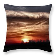 Storms Roll Throw Pillow