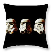 Stormtrooper 1-3 Weathered Throw Pillow