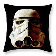 Stormtrooper 1 Weathered Throw Pillow