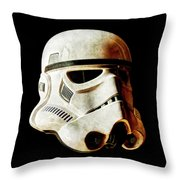 Stormtrooper 2 Weathered Throw Pillow