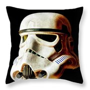 Stormtrooper 3 Weathered Throw Pillow