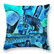 Stormtrooper And Weapon - Pa Throw Pillow