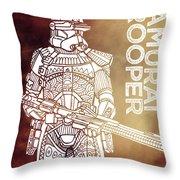 Stormtrooper - Star Wars Art - Brown Throw Pillow
