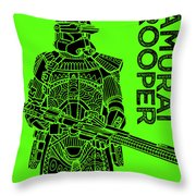 Stormtrooper - Green - Star Wars Art Throw Pillow