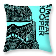 Stormtrooper Helmet - Blue - Star Wars Art Throw Pillow