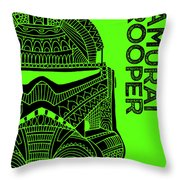 Stormtrooper Helmet - Green - Star Wars Art Throw Pillow