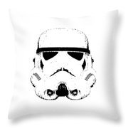 Stormtrooper Helmet Star Wars Tee Black Ink Throw Pillow