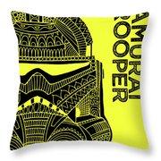 Stormtrooper Helmet - Yellow - Star Wars Art Throw Pillow