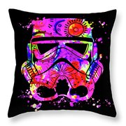 Stormtrooper Mask Rainbow 10 Throw Pillow