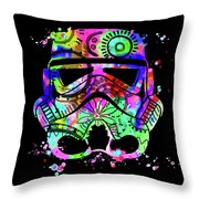 Stormtrooper Mask Rainbow 6 Throw Pillow