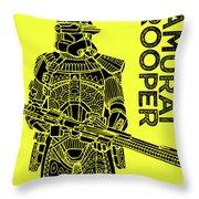 Stormtrooper - Yellow - Star Wars Art Throw Pillow