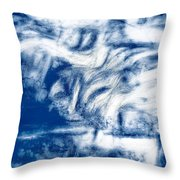 Stormy Abstract Throw Pillow