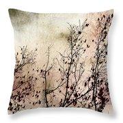 Stormy Autumn - Nature Art Throw Pillow