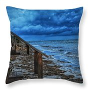 Stormy Backyard  Throw Pillow