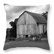 Stormy Barn Throw Pillow by Perry Webster