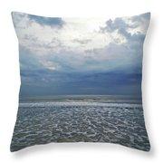 Stormy Beach Beauty Throw Pillow