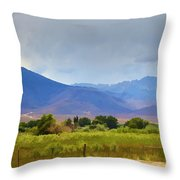 Stormy California Mountains Throw Pillow