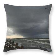 Stormy Caspersen Beach  Throw Pillow