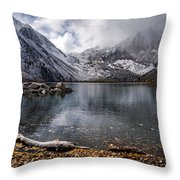 Stormy Convict Lake Throw Pillow