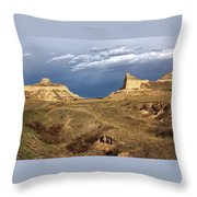 Stormy Day At Mitchell Pass Throw Pillow