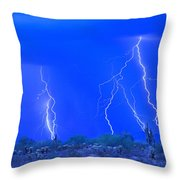 Stormy Desert Throw Pillow