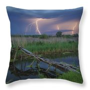 Stormy Evening Throw Pillow