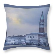 Stormy Evening In Venice Throw Pillow
