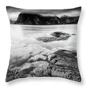 Stormy Lofoten Throw Pillow