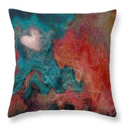 Stormy Love Throw Pillow