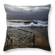 Stormy Morning At Collaroy Throw Pillow