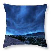 Stormy Night Sky Arches National Park - Utah Throw Pillow