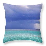 Stormy Ocean Throw Pillow