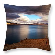Stormy Peace Throw Pillow