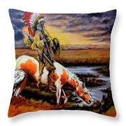 Stormy Prairie Throw Pillow
