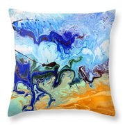Stormy Seas Abstract #3 Throw Pillow