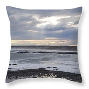 Stormy Seas And Sky Throw Pillow