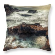Stormy Seascape Throw Pillow