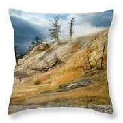 Stormy Skies At Mammoth Throw Pillow