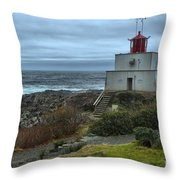 Stormy Skies Over Amphitrite Throw Pillow