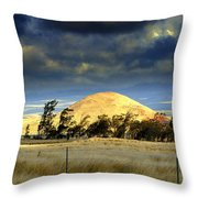 Stormy Skies Over Sunset Cinder Cone Throw Pillow