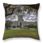 Stormy Skies Over The Citadel Throw Pillow