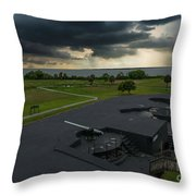 Stormy Sky Over Fort Moultrie Throw Pillow