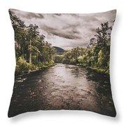 Stormy Streams Throw Pillow