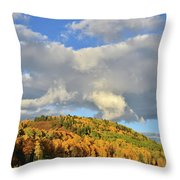 Stormy Sunrise In Colorado Throw Pillow