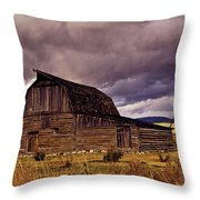 Stormy Sunset At Moulton Barn Throw Pillow
