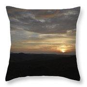 Stormy Sunset Beginning  Throw Pillow