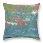 Stormy Coastal Sunset Throw Pillow