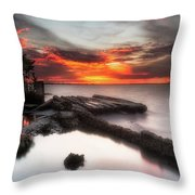 Stormy Twilight Afterglow Throw Pillow
