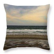 Stormy View Of Nantsaket Beach Throw Pillow